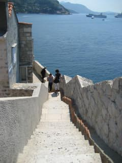 The famous walls of Dubrovnik